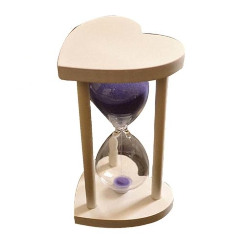 Creative Wooden Heart-shaped Hourglass 30 Minutes Sand Glass Timer,B4