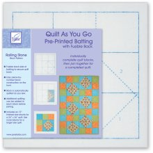 June Tailor Quilt As You Go Printed Quilt Blocks On Batting-Rolling Stone