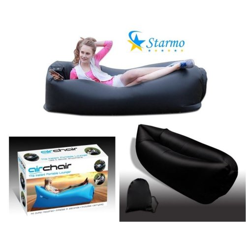 Inflatable Sofa Air Bed Lounger Chair Bean Sleeping Bag Mattress Seat Couch with Bag