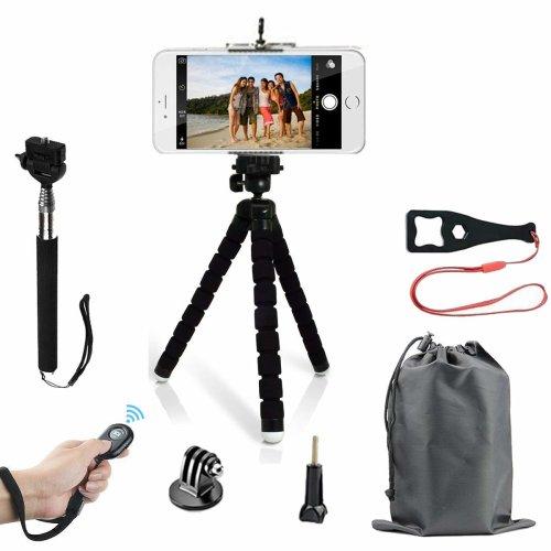 HAPY Phone Tripod,Lightweight Mini Tripod And Universal Smartphone Tripod Adapter,Wireless Remote Shutter,Selfie Stick Tripod,for...