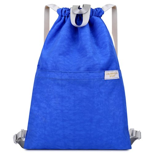 Drawstring Bag Unisex Gym Bag Sport Rucksack Shoulder Bag Hiking Backpack #14