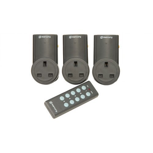 Remote Control Mains Socket Set 3 Way