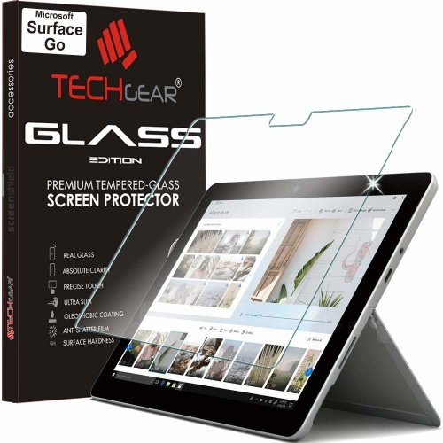 TECHGEAR GLASS Edition fits Microsoft Surface Go - Genuine Tempered Glass Screen Protector Guard Cover Compatible with Microsoft Surface Go