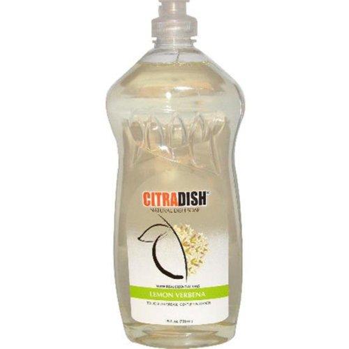 Citra-Solv 1063726 CitraDish  Natural Dish Soap  Lemon Verbena  25 fl oz - 739 ml - Case of 12 - 25 oz