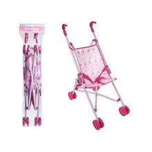 Children's Pink Buggy Pushchair Doll Stroller - Kids Toy Baby Collapsible Fold -  pink pushchair kids toy buggy baby doll collapsible fold away