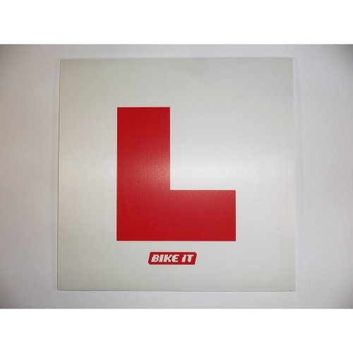 NEW BikeIt self adhesive L-plate motorcycle 125cc scooter learner