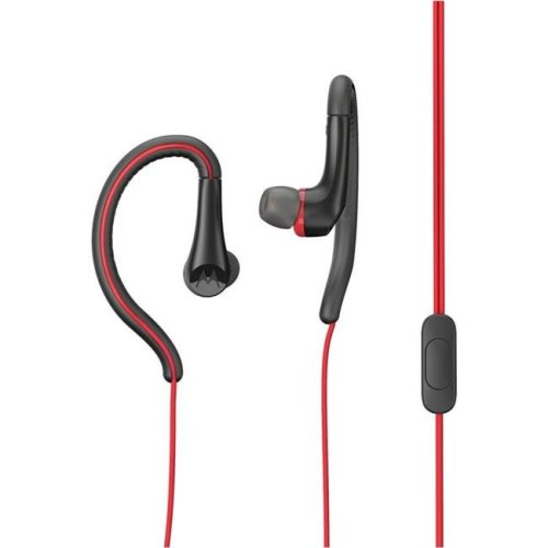 Motorola MO-SH008RD 3.5 mm Hands Free Earbuds Sport Water Resistant IPX4 with Remote & Mic - Red