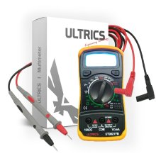 ULTRICS® Digital LCD Multimeter Voltmeter Ammeter OHM AC DC Circuit Checker