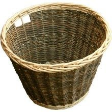 Round Rustic Log Basket