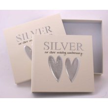 Silver Wedding 25th Anniversary Photo Album and Keepsake Box
