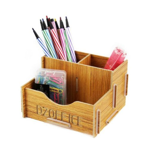 Practical DIY wooden storage box Pen / Pencil / Cosmetic storage drawers 33