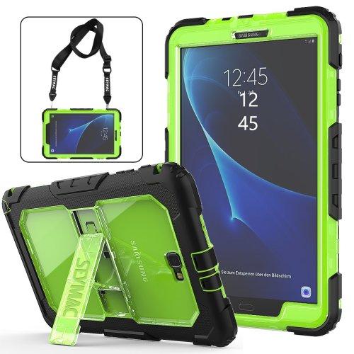 Samsung Galaxy Tab A 10.1 Case Kids - Full Body Rugged Shockproof, Black/Green