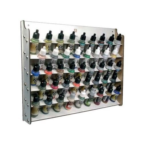 17ml Wall Mounted Paint Display Av Acrylics - Storage Rack 45 Bottle Val26010 -  av acrylics wall mounted paint display 17ml storage rack 45 bottle