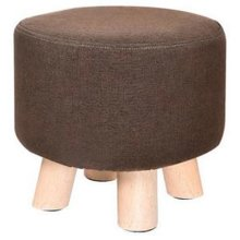 Creative Wood Linen for Shoe Stool Household Stool Round stool Children Adults Apply, Brown