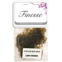 Light Brown Finesse Bun Nets -  finesse bun nets light brown