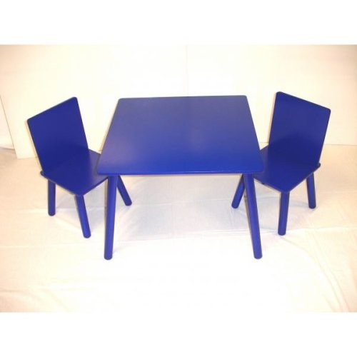 Kids Table And 2 Chairs Set Blue