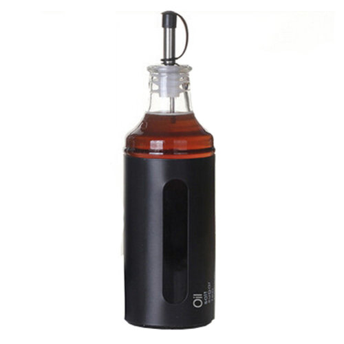 400ML Household Glass Oil Jar Oil Dispenser Oil & Vinegar Bottle, S