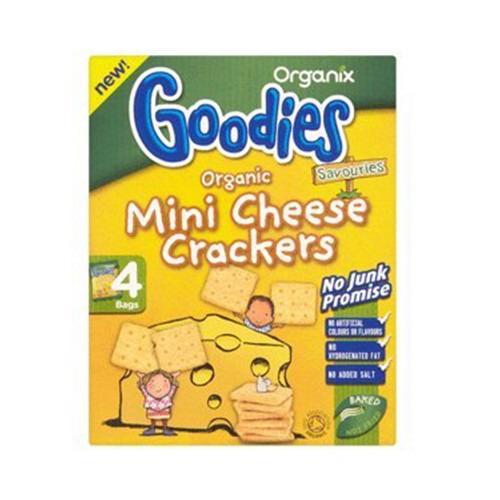 Organix Mini Cheese Crackers 4x20g