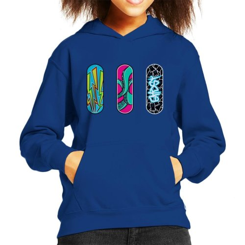 Three Skateboards Kid's Hooded Sweatshirt