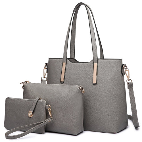 3pc Miss Lulu Women's PU  Leather Handbag Set
