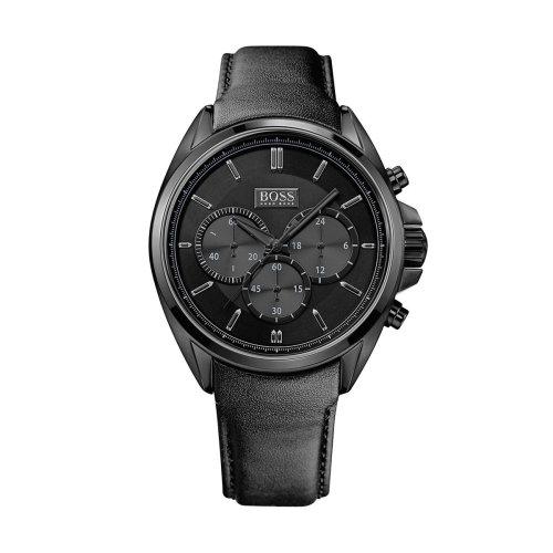 Hugo Boss Driver 1513061 Men's Black Leather Chronograph Watch