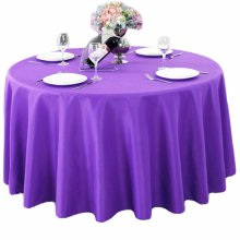 Thicken Solid Colors Table Linens/Tablecloth For Home Or Office(160 CM)-Purple