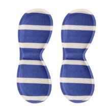 4 Pair Heel Cushions Padded Heel Grips Care Heel Snugs Heel Liners Blue Stripe B