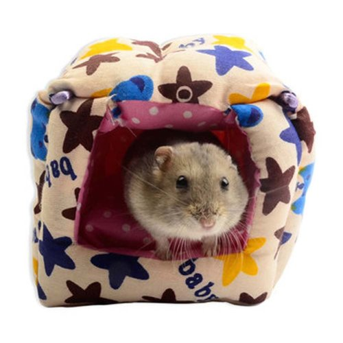Cute Cartoon Soft Warm Pet Bed Best Pet Supplies Home with Bed Mat for Hamster