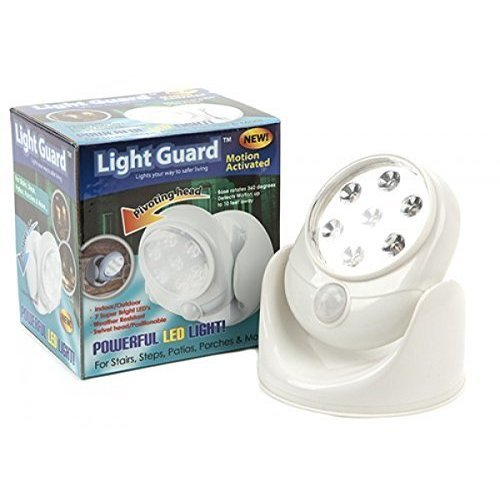 Indoor/ Outdoor Motion Activating LED Security Light 7 Bright Led's - Indoor -  light led motion outdoor indoor sensor security cordless 7 wall