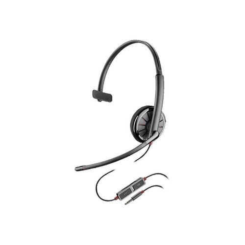 Plantronics 3.5 mm Blackwire C215 Mono Corded Headset for Smartphone