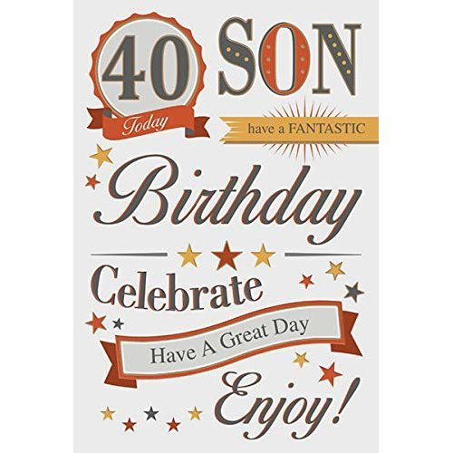 Son 40th Birthday Card On OnBuy