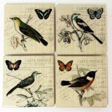 Ceramic Postcard Bird Coasters