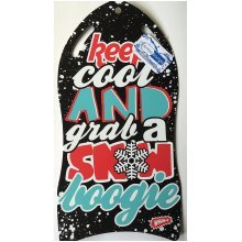 Snowboogie Air Slick Sledge Black/silver -