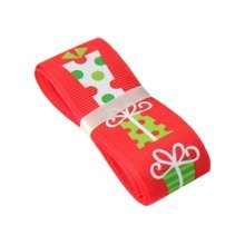 4M Christmas Tree Home Decor Ornaments & Gift Wrapping Streamers [Red, Gift]
