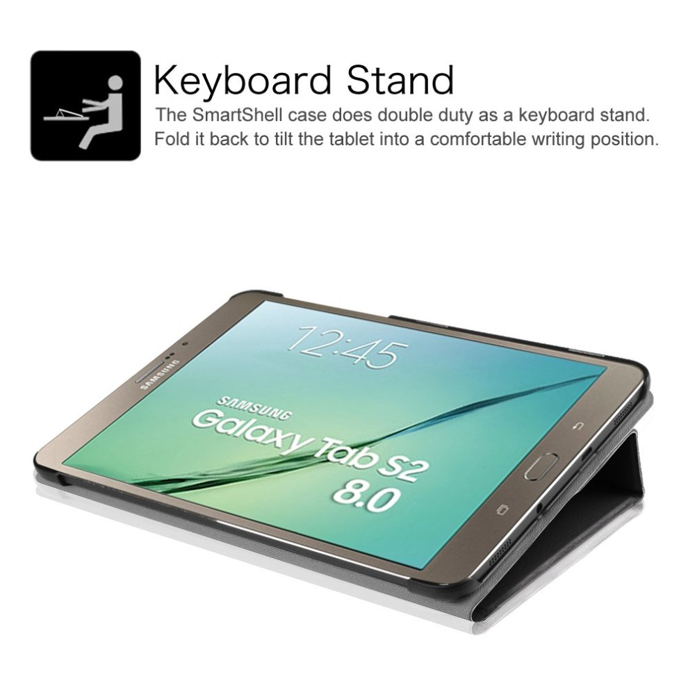 finest selection 65583 7abc2 FINTIE Samsung Galaxy Tab S2 8.0 Smart Book Cover Case - Super Thin Light  Weight Stand Supports 3 Viewing Angles with Auto Sleep/Wake Feature for...