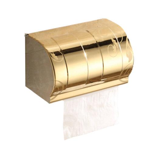 Bathroom Tissue Holder/Toilet Paper Holder,Stainless Steel,widen,golden