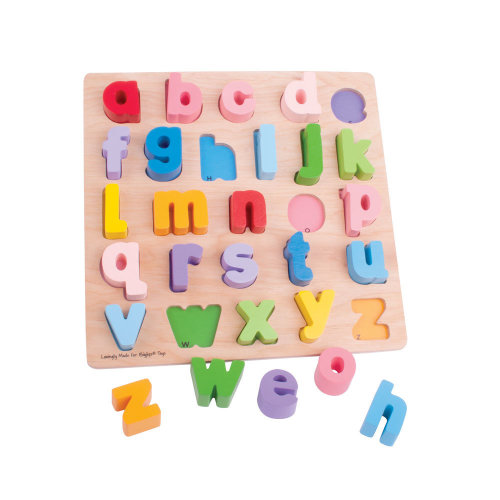 Bigjigs Toys Chunky Alphabet Puzzle (Lowercase) - Educational Jigsaw