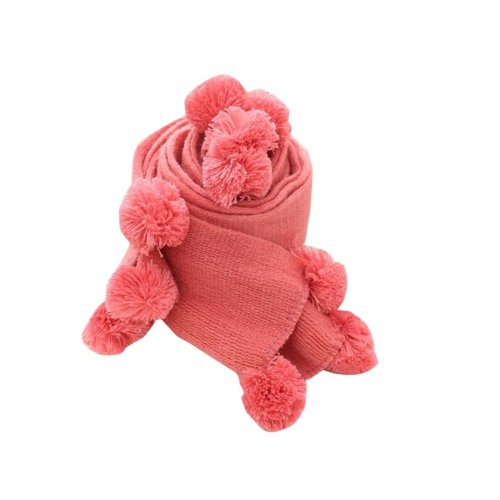Soft Cotton Kids Scarf Winter Warm Scarf Neck Wrap for Kids-Pink