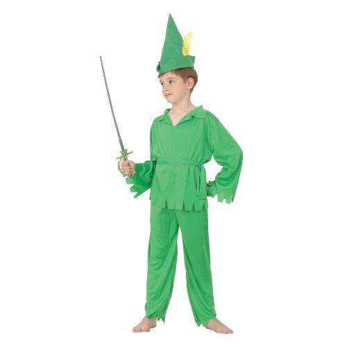 Child Peter Pan Costume Christmas Elf Robin Hood Boys Kids Fancy Dress Outfit