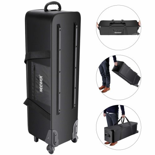 Neewer Photo Studio Equipment Rolling Bag 42.1x 11.8 x 11.8inches/107x 30x 30centimeters Trolley Carrying Case with Padded Compartment for Light...