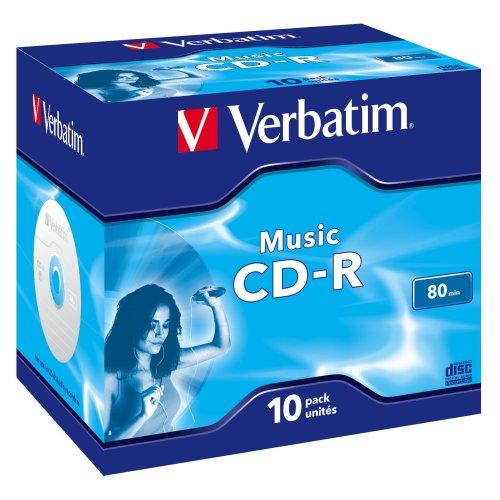 Verbatim Music CD-R for Audio 80min 10 Pack, 43365 (10 Pack)