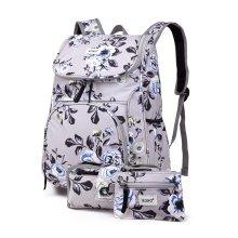 KONO 3pcs Flower Backpack School Bag Pencil Case Money Pouch