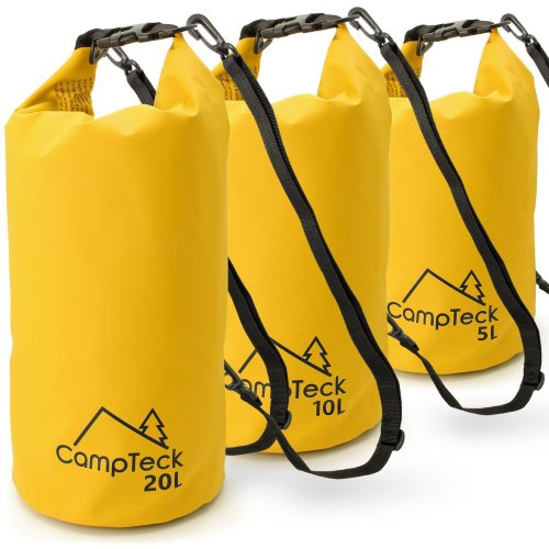 CampTeck Dry Sack Waterproof Floating Storage Dry Bag for Camping, Rafting, Fishing, Canoeing, Boating, Kayaking, Snowboarding, Swimming, Diving...