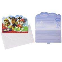 Paw Patrol Folded Invitations - /8