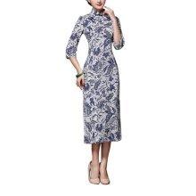 Elegant Oriental Cheongsam Qipao Chinese Style Costume Dresses, #09