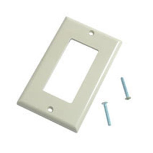 Cables To Go 03724 DECORATIVE SINGLE GANG WALL PLATE - IVORY