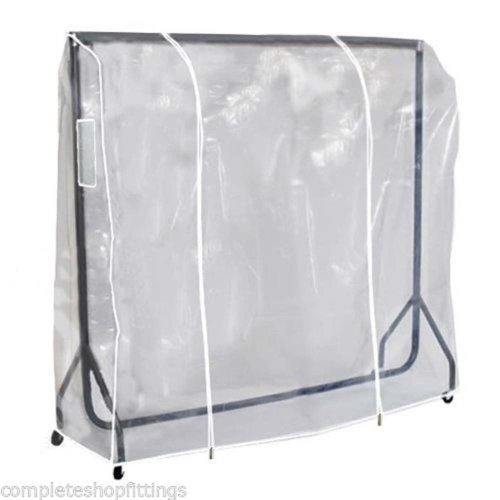 Transparent Clear Protection Clothes Hanger Rail Cover [5ft - 5ft]