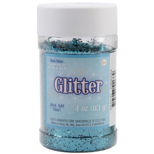 Glitter 4oz-Metallic Turquoise