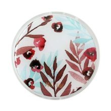 Stylish Round Contact Lenses Case Storage Holder Red Flower