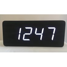 Excelsior Wooden 'Bullion Bar' Digital Clock